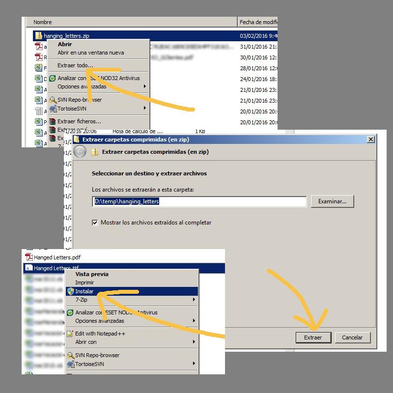 cómo instalar-fonts-windows