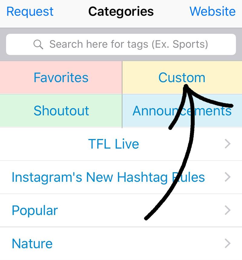 Cómo guardar listas de hashtags de Instagram