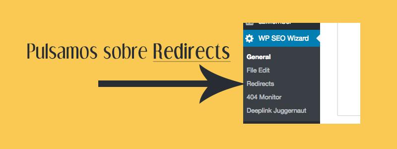 hacer una redirección a WordPress