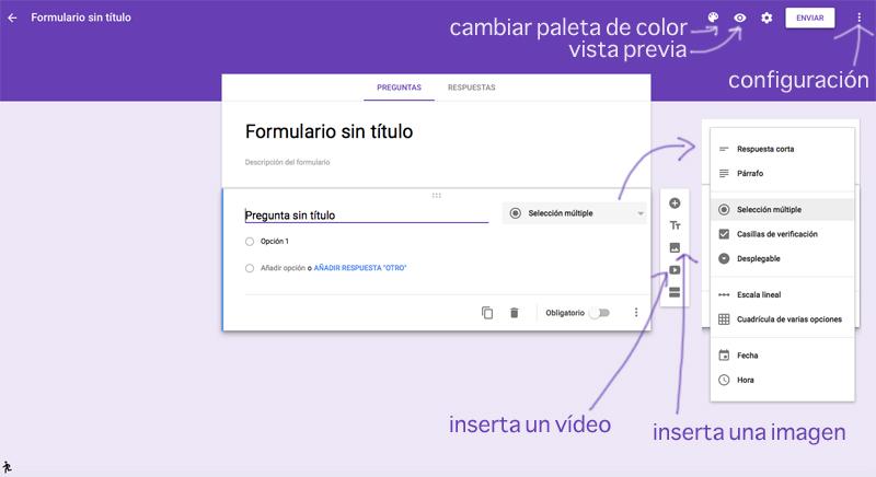 editar el formulario de Google Drive
