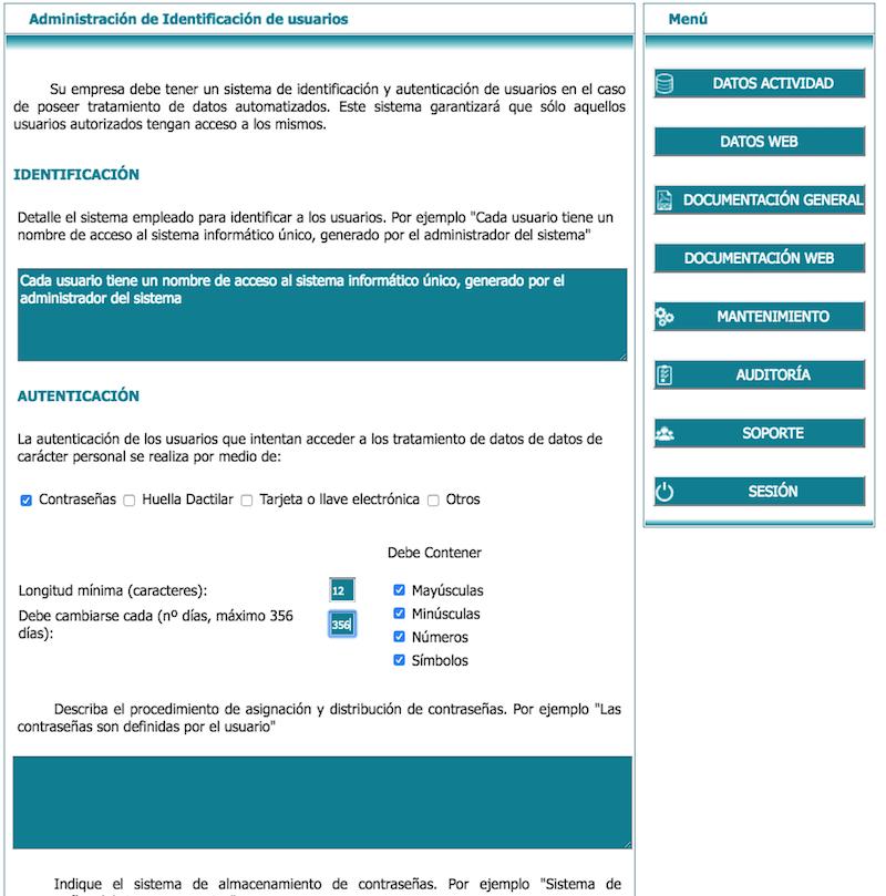 Administración de identificación de usuarios en lex blogger