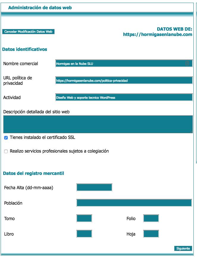 Administración de datos web con lex blogger