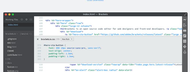 editores de código: paréntesis